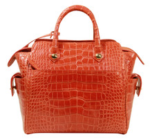 Trapeze Leveler - Alligator Satchel Bag - Orange Millennium