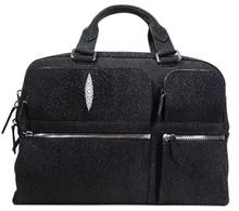 Messenger Bag - Black Stingray