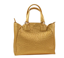 Retro Bowling Bag - Gold Ostrich