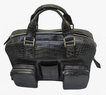 Messenger Bag - Grey Crocodile