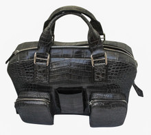Messenger Bag - Grey Crocodile