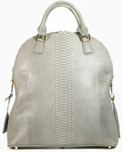 Patrice Elongated Tote - Python in Grey