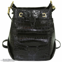 Bucket Backpack - Black Alligator