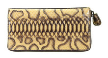 Zippered Wallet - Python - Glazed Handpainted Anacodia