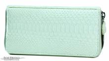 Zippered Wallet - Python - Matte White (Horziontal Scales)