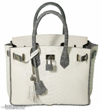 Classic 30 - White Python Trimmed Grey Caiman
