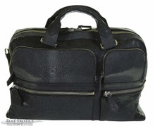 Messenger Bag - Black Shagreen