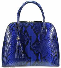 Patrice Satchel - Electric Blue Glazed Python