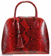 Patrice Satchel - Red Glazed Python