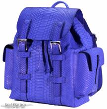 Backpack - Short Tail Python - Royal Blue Matte