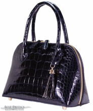 Patrice - American Alligator - Dark Navy Glazed (Medium)