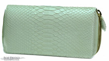 Zippered Wallet - Python - Pearlized