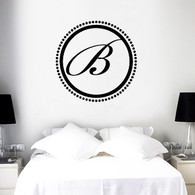 Monogram Wall Decals, Elegant Monogram Decals