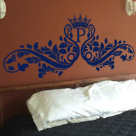 Headboard Wall Decals, decorative wall decal, ornate wall decal