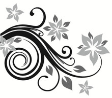 Branch Wall Decals with Flowers