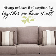 Expression wall decal, wall quotes