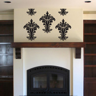 Decorative Wall Decals, damask wall decal