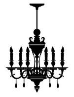 Decorative Chandelier Wall Decal