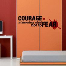 kids wall decals, courage wall quote decal, kids wall decal