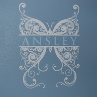 Attirant Butterfly Monogram Wall Decals