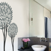 Tree Wall Decals, twin topiary wall decals