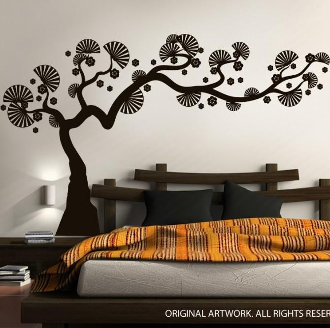 Modern Bonsai Tree Wall Decals