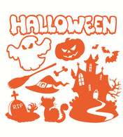 Halloween Wall Decals pack 01