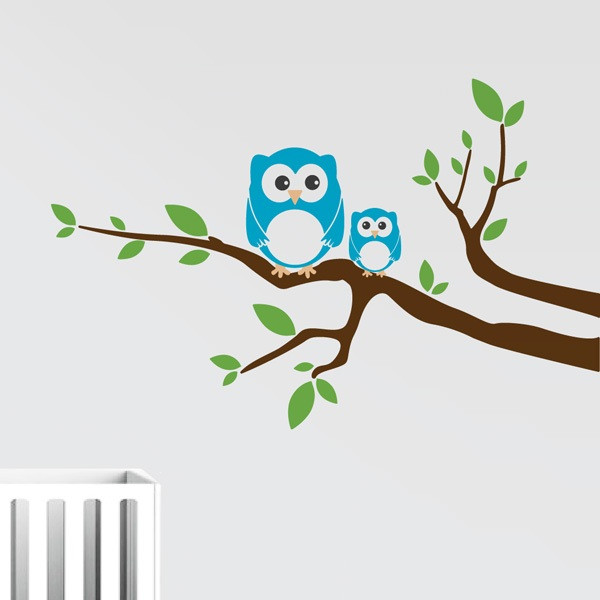 Branch With Owls Wall Decal
