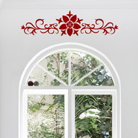 Decorative Wall Decals, Ornamental Flower Vine Decal