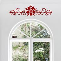 Decorative Wall Decals, Ornamental Flower Vine Decal