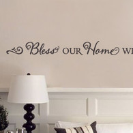 Love Wall Quotes Alluring Bless Our Home With Love Laughter Wall Quote  Decalmywall