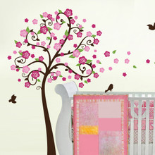Flower Tree Wall Decal with Branch Wall Decal