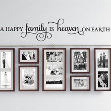Wall Quotes, Wall Lettering - A Happy Family is Heaven on Earth