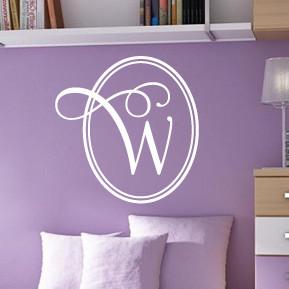 Elegant Monogram Wall Decal & Elegant Monogram Wall Decal | DecalMyWall.com