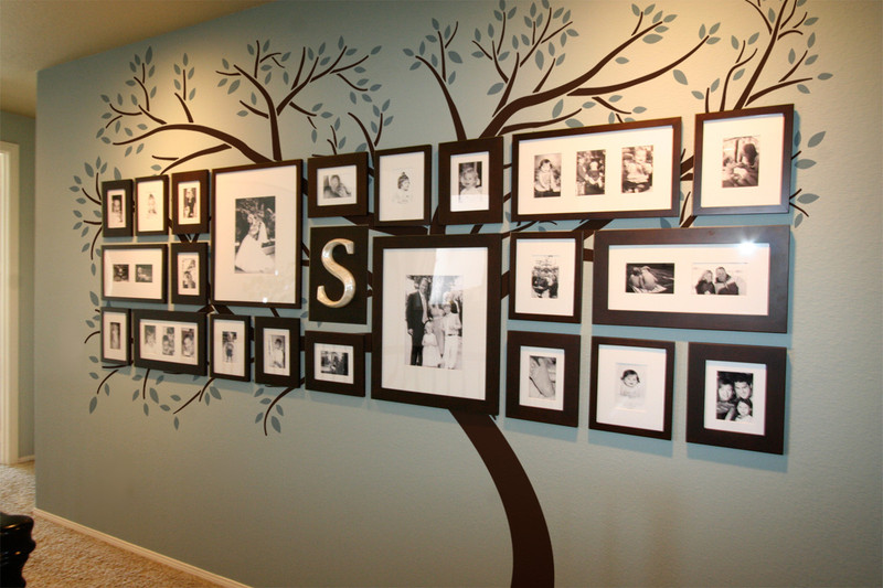 Picture Frame Wall Decals family tree wall decal | decalmywall