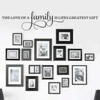 Wall Quotes, Wall Lettering - The Love of a Family Wall Quote