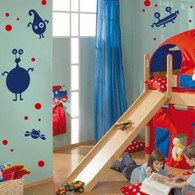 Kids Wall Decals, monster wall decal pack