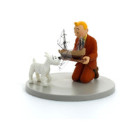 Tintin Figure Cube - Holding the Unicorn