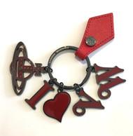 Vivienne Westwood I-HEART-VW Keyring red
