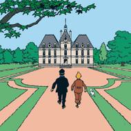 Tintin Moulinsart Castle /Châteaux de Moulinsart Canvas Print