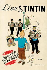 Lisez Tintin Poster