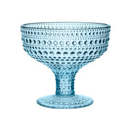 Kastehelmi Footed Bowl blue