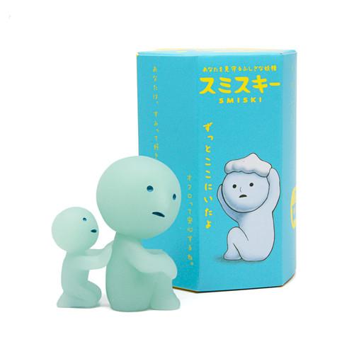 Smiski Bath figures have a bluish glow