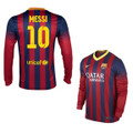 Messi Barcelona 2013 2014 Home Long Sleeve Player Edition Jerseys
