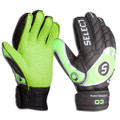 Size 6 Select Finger Protection Hard Ground Goalkeeper Gloves   Color: Lime and Black