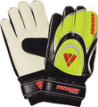 Size 4 Vizari Mirage Finger Protection Goalkeeper Gloves   Color: Black and Lime