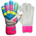 Size 4 Aviata Stretta Finger Protection Goalkeeper Gloves   Color: Fluorescent Yellow, Neon Pink & Blue