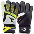 Size 6 Diadora Olimpico Goalkeeper Gloves   Color: Black, Silver and Fluorescent Yellow