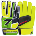 Size 5 Diadora Luca Goalkeeper Gloves   Color: Fluorescent Yellow, Green and Black