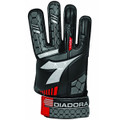 Size 5 Diadora Luca Goalkeeper Gloves   Color: Black, Red and Silver